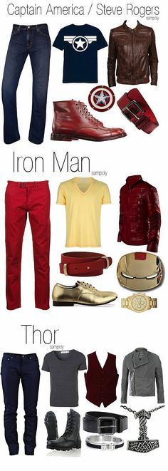 Part 1 Men's versions of Avengers outfits- I think I'll have to say no to the gold shoes though...