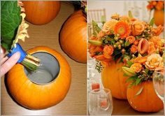 Gorgeous centerpieces for an autumn wedding