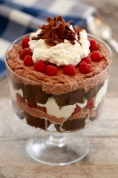 Chocolate Raspberry Trifle- Thee most decadent chocolate dessert that will blow your socks off