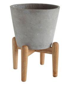 Look what I found on #zulily! Cement Planter & Stand #zulilyfinds