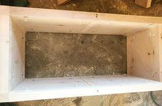 Add side panels to the DIY storage chest frame Diy Storage Trunk, Diy Storage Cabinets, Diy Storage Boxes, Entryway Bench Storage, Storage Chest, Diy Bench, Diy Desk, Outdoor Storage, Woodworking Workshop Plans
