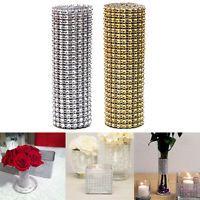 Rhinestone Diamond Ribbon Party Wedding Decorations Mesh Wrap Supplies DIY Roll
