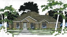 This traditional home has an elegantly detailed brick facade. Popular features include separate family and living rooms, formal dining room, island kitchen and remote master suite.