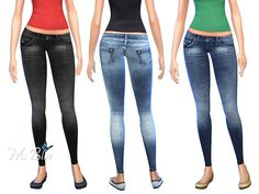 The Sims Resource: Skinny Jeans set by Ms Blue • Sims 4 Downloads