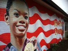 Gabby Douglas kicked butt for team USA in the gymnastics, and now has a mural in her hometown. Way to go!