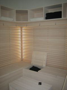 Indoor Sauna, Blinds, Sweet Home, Curtains, Interior Design, Bathroom, Meeting Rooms, Home Decor, Ideas