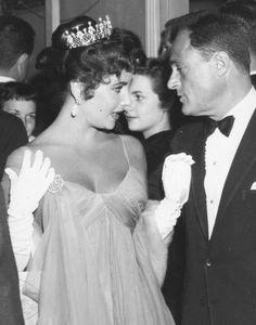 Elizabeth Taylor and Mike Todd, Oscar, 1957
