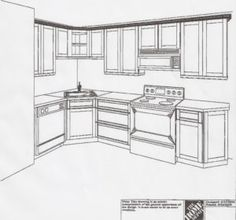 l shaped kitchen floor plans with dimensions | corner pantry