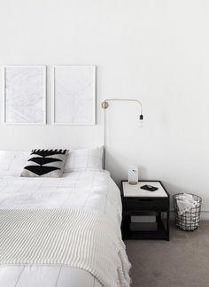 minimal monochrome bedroom-5