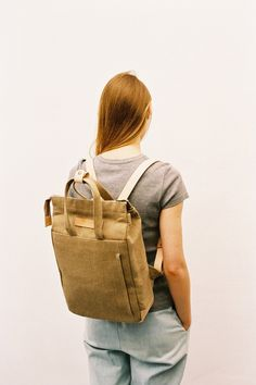 Handle Backpack Raw Natural