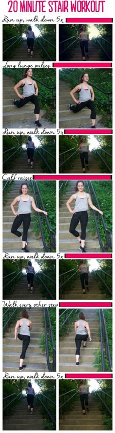 20 Min Stair Workout | Posted by: NewHowtoLoseBellyFat.com