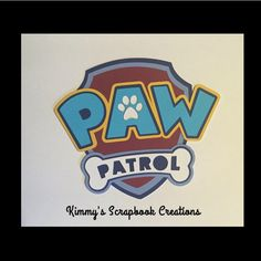 A personal favorite from my Etsy shop https://www.etsy.com/listing/464763930/paw-patrol-scrapbook-title-premade-paper