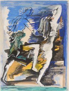 'La poursuite' (1956) by Ossip Zadkine