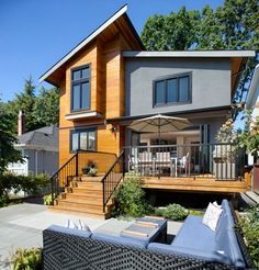 Vancouver, BC Home: Total Overhaul - rear view after