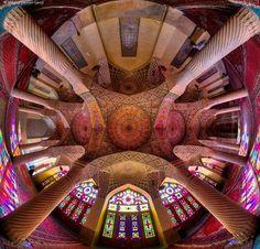 Amazing Khaje Nasir ol Molk Mosque .. Shiraz
