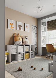 Kids Bedroom Designs, Baby Room Design, Home Room Design, Baby Playroom, Baby Room Decor, Bedroom Decor, Toddler Rooms, Baby Boy Rooms, Girl Room