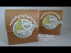 Gift Bag Punch Board Woodland Satchel | Stampin'Up! - YouTube
