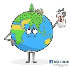 Brilliant illustration 💙 Our Earth is Angry, really Angry right now 😕 Planet Drawing, Earth Drawings, Save Earth Drawing, Save Mother Earth, Love The Earth, Anime Princess, Brighten Your Day, Transparent Stickers, Global Warming