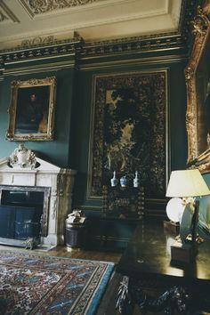 beautiful dark living room decor.