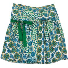 Pre-owned Marc Jacobs Blue Green & Tan Floral Print Skirt ($79) ❤ liked on Polyvore featuring skirts, floral printed skirt, blue pleated skirt, green skirt, floral skirt and flower print skirt