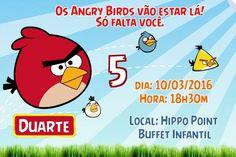 Convite digital personalizado Angry Birds 010