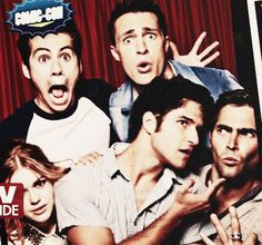 Holland Roden, Dylan O'Brien, Tyler Posey, Colton Haynes and Tyler Hoechlin