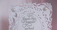 White Filigree ... Spellbinders Cards, Homemade Cards, Filigree, Diy Cards, Handmade Cards, Card Making Inspiration, Stamp Sets