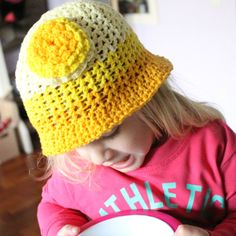 Free crochet tutorial for the Bucketful of Sunshine hat on missneriss.com, made with Scheepjeswol Cotton 8. #scheepjeswol #cotton8 #scheepjes #freepattern