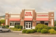 Five Guys Burgers and Fries offers the best handcrafted burgers in Pigeon Forge