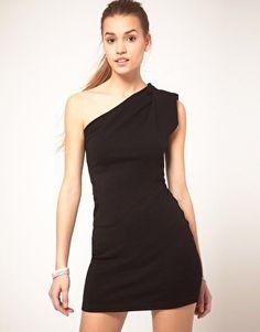 American Apparel One Shoulder Dress - StyleSays