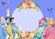 Disney Princess Babies, Baby Shower Princess, Disney Princess Party, Baby Princess, Baby Shower Invitation Templates, Free Baby Shower Printables, Free Printables, Princess Theme Birthday, 3rd Birthday