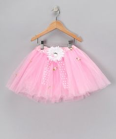 Take a look at this Pink & White Daisy Tutu - Toddler & Girls  by The Butterfly Grove on #zulily today!