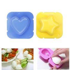 2Pcs/set Kitchen Tool Cute Cartoon Shape Boiled Egg Mold For egg/rice/sushi/cake Decoration #82695