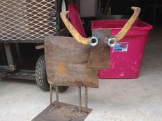 * About This Item * Piece: Steer Height: approx 20 inches Width: approx 20 Inches Weight: approx 15 lb  * Please Note *  All of our metal