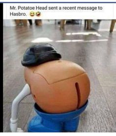 Mr Potato Head, Funny Pix, Home Appliances, Messages, Home Decor, House Appliances, Decoration Home, Room Decor, Appliances