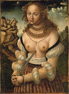 ❤ - LUCAS CRANACH (1472 - 1553) - The suicide of Lucretia.