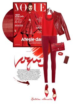 """RED."" by katrine-amalie ❤ liked on Polyvore featuring Balenciaga, Urban Decay, Tommy Hilfiger and Chanel"