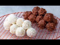 Nem fogod többé megvásárolni, hanem elkészíted! Raffaello és Ferrero golyócskák!| Ízletes TV - YouTube Biscotti, Chocolates, Cravings, Caramel, Sweet Treats, Deserts, Food And Drink, Sweets, Cooking