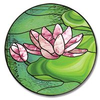 Free Tropical Stained Glass Patterns | Free Pattern, Waterlily Circle - Glass Crafters Stained Glass Supplies