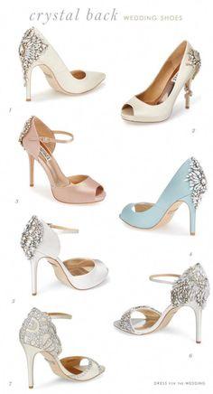eff3fd9dfecf Sparkling embellished back designer wedding shoes. Crystal back bridal shoes .