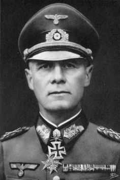 "Erwin Johannes Eugen Rommel (15 November 1891 – 14 October 1944), Generalfeldmarschall and popularly  known as the Desert Fox. He earned the respect of both his own troops and his enemies. Notice his WW1 medal  ""Pour le mérite"" just below his ""Iron Cross"" medal."