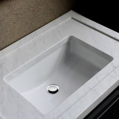 Modernize your bathroom decor with this ceramic undermount vanity sink from Highpoint Collection. This white vanity sink features a contemporary aesthetic while delivering a durable sink with its sust Ceramic Undermount Sink, Sink Faucets, Bathroom Sinks, Master Bathroom, Pool Bathroom, Porcelain Ceramics, White Ceramics, Fulton Homes, White Vanity