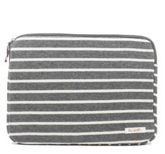 Striped Fleece Laptop Case - because even your laptop needs to stay warm and cozy in the cold months. Cute Laptop Cases, College Bags, New Laptops, Cozy Blankets, Purses And Bags, Zip Around Wallet, My Style, Seal, Store