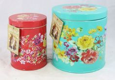 THE PIONEER WOMAN PAIR OF TIN CANISTER SET in Home & Garden, Kitchen, Dining & Bar, Kitchen Storage & Organization | eBay
