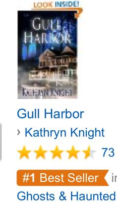 A #1 #Kindle Bestseller banner under GULL HARBOR!  #amwriting #romance #suspense
