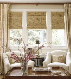 curtains for 3 windows close together? sitting room curtain idea!