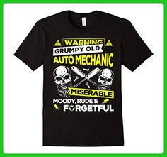 Mens Grumpy Old Auto Mechanic T Shirt Miserable Moody Rude & Forg Small Black - Careers professions shirts (*Amazon Partner-Link)