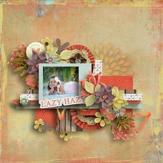 Lazy Hazy Days of Summer Layout by Zanthia using Jumpstart your Layout Set #86