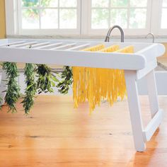 DIY Drying Rack for Pasta, Herbs and More - DIY - MOTHER EARTH NEWS