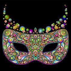 #Carnival #Mask #Psychedelic #Art #Design-#Vector © bluedarkat Check out the #Psychedelic #Art #Design by Bluedarkat! ☆◠‿◠☆ > http://www.flickr.com/photos/bluedarkat/sets/72157631759608031/